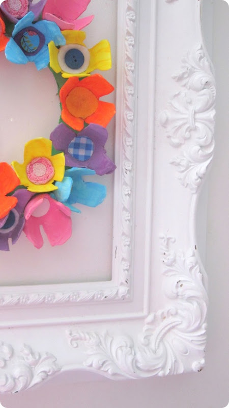 recycling paper: egg carton spring wreath tutorial
