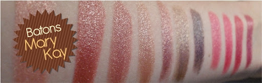 Swatches- Batons Mary Kay