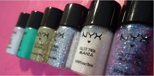 Pigmentos e Glitters Nyx: Swatches