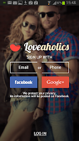 Screenshot of Loveaholics: Online dating app