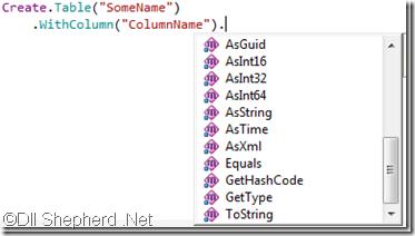 FluentMigrator-framework-column-without-schema