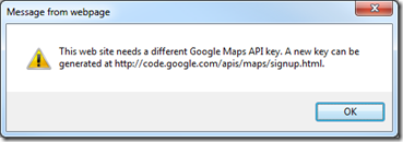 Google-API-V2-key-warning