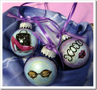 Party Favor Ornaments by Robyn Warne Designs 2009