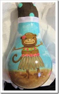 Monkey Light bulb Ornament