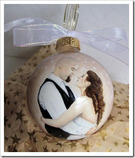 Custom Dancing Wedding Couple Ornament