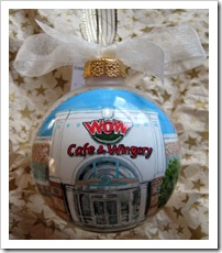 Custom Glass ornament - WOW franchise