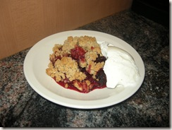 apple rhubarb crisp 004
