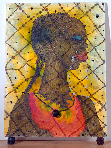 chris ofili, no woman no cry