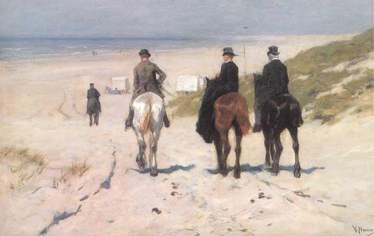 Anton Mauve, ruiters bij Scheveningen