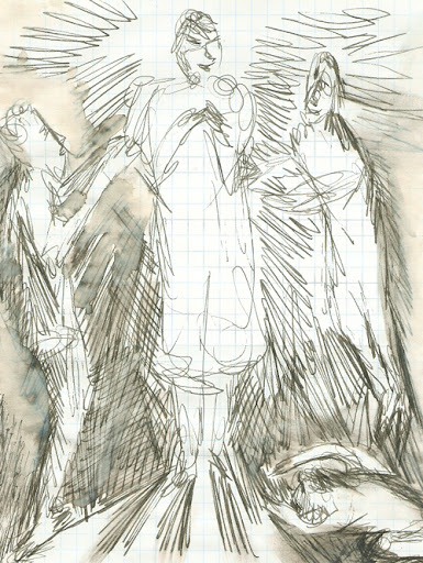 frank waaldijk, the false guru (drawing, 2005)