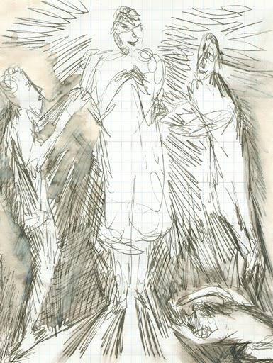 frank waaldijk, the false guru (drawing, 2005)