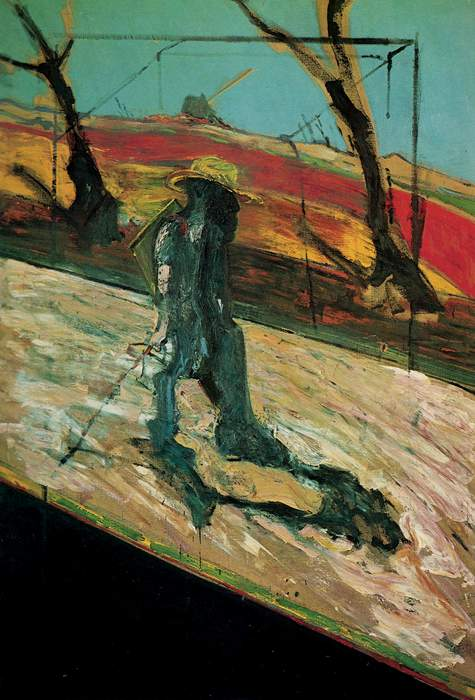 francis bacon, study for a portrait of Van Gogh