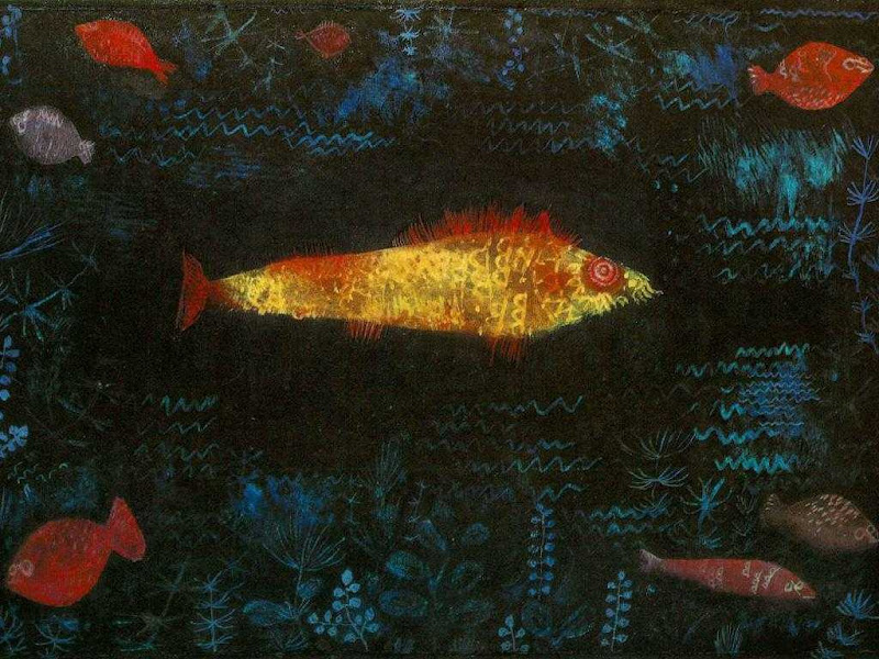 paul klee, golden fish