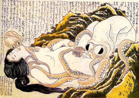 hokusai, dream of the fisherman's wife