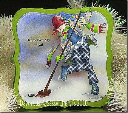 IC263 Hockey Happy Birthday