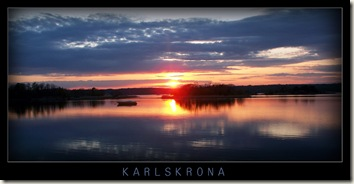 karlskrona panoramic sunset
