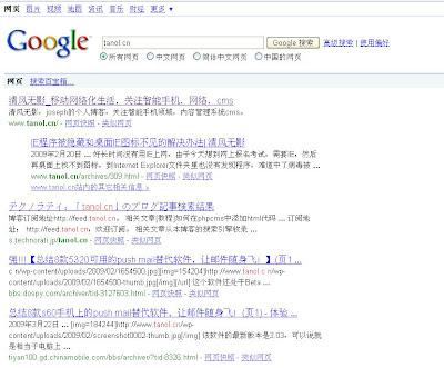 Google域名搜索结果