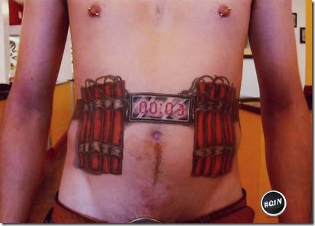 Tatuagem barradas no aeroporto