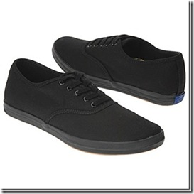 Keds Champion Black Canvas Sneakers