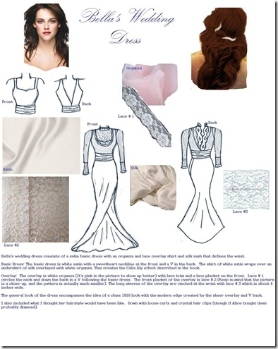 kristen stewart bella wedding dress. Sallie Henshaw Bella Swan