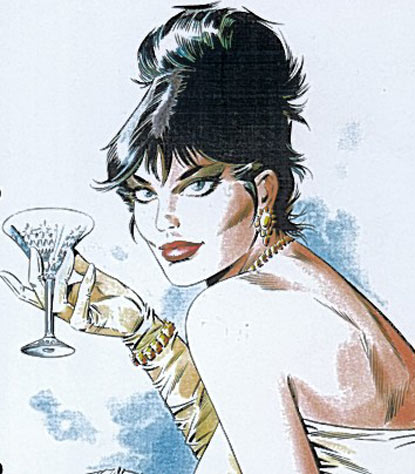 Modesty Blaise toasts her maker