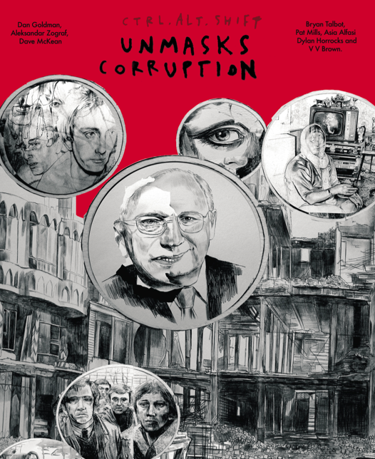 Ctrl.Alt.Shift Unmasks Corruption comic book cover