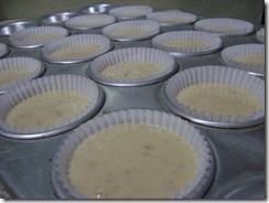 Banana cupcakes, cupcakes de guineo