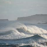 Strong surf in the morning