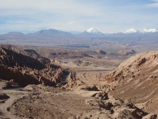 The last stretch of road into San Pedro de Atacama.