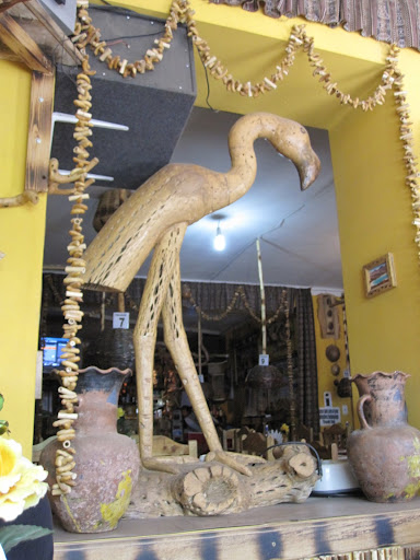 Awesomely bad decorations at a just plain bad tourist restaurant in Tupiza.  Yup, that is a flamingo made of cactus wood.