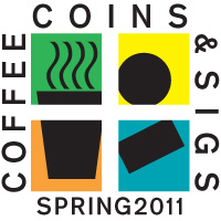 Coffee, Coins, and Sigs Spring 2011 Logo