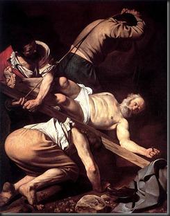463px-Caravaggio-Crucifixion_of_Peter
