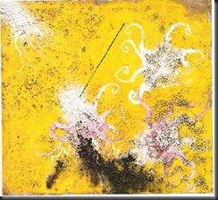 pulpo sobre fundo amarillo 2000