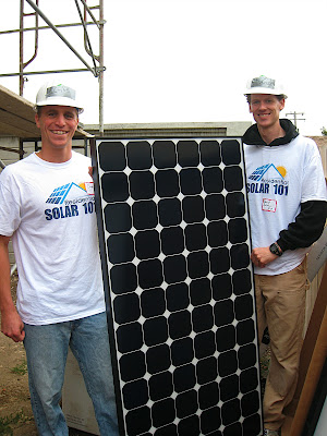 Residential Solar 101 team and a SunPower solar panel