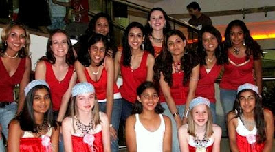 Irfan's girlfriend Shivangi with her dance troupe friends