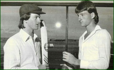 The Aussie Twins - Mark and Steve Waugh vintage picture