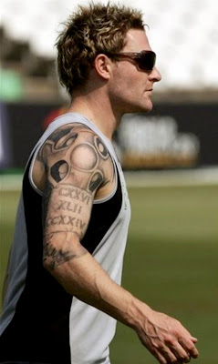 Tattooed Brendon McCullum