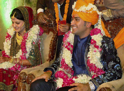 Dhoni and his childhood friend Sakshi Singh Rawat got married in Dehradun on 4th July 2010