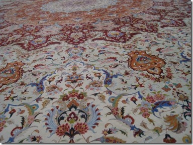 larget hand woven carpet