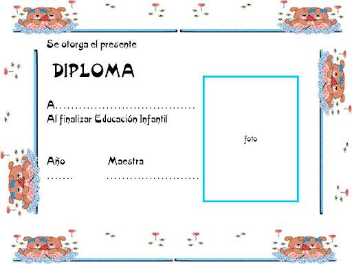 Diplomas para niños de preescolar para editar - Imagui
