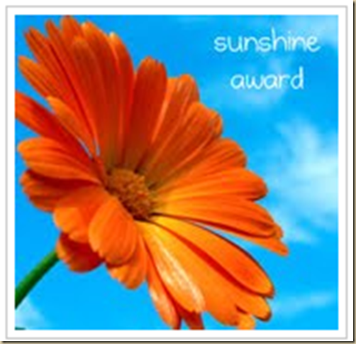 Sunshine award from thoughts from Meme  corner
