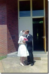 Robert and Kay Mannel Wedding - Kiss