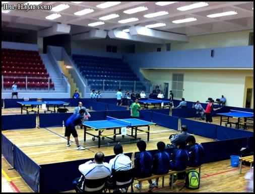 صورة من بطولة كرة الطاولة ببريدة