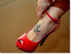 peep-toe shoes