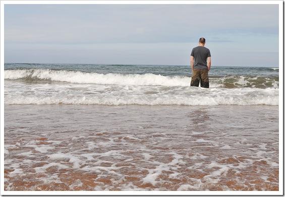 scott in ocean