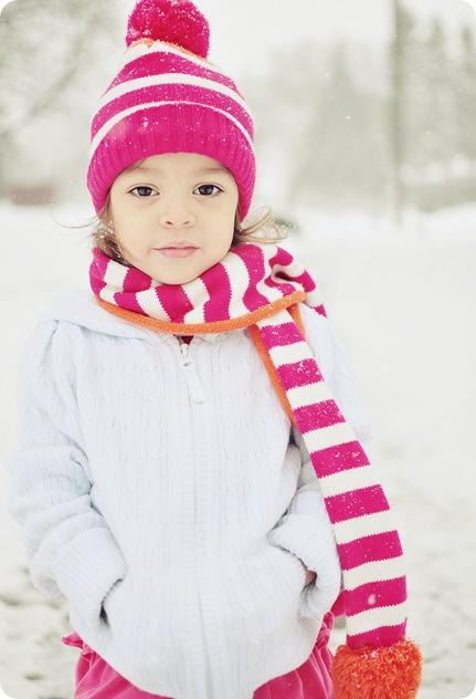 ella in snow