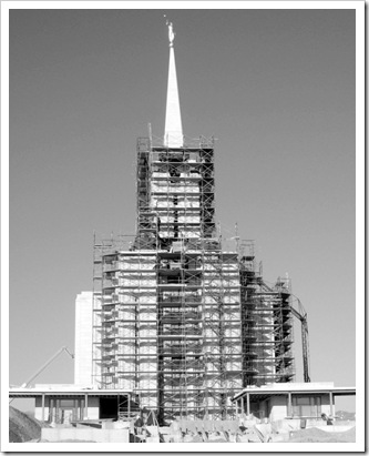 temple scaffolding -oquirrh mountain