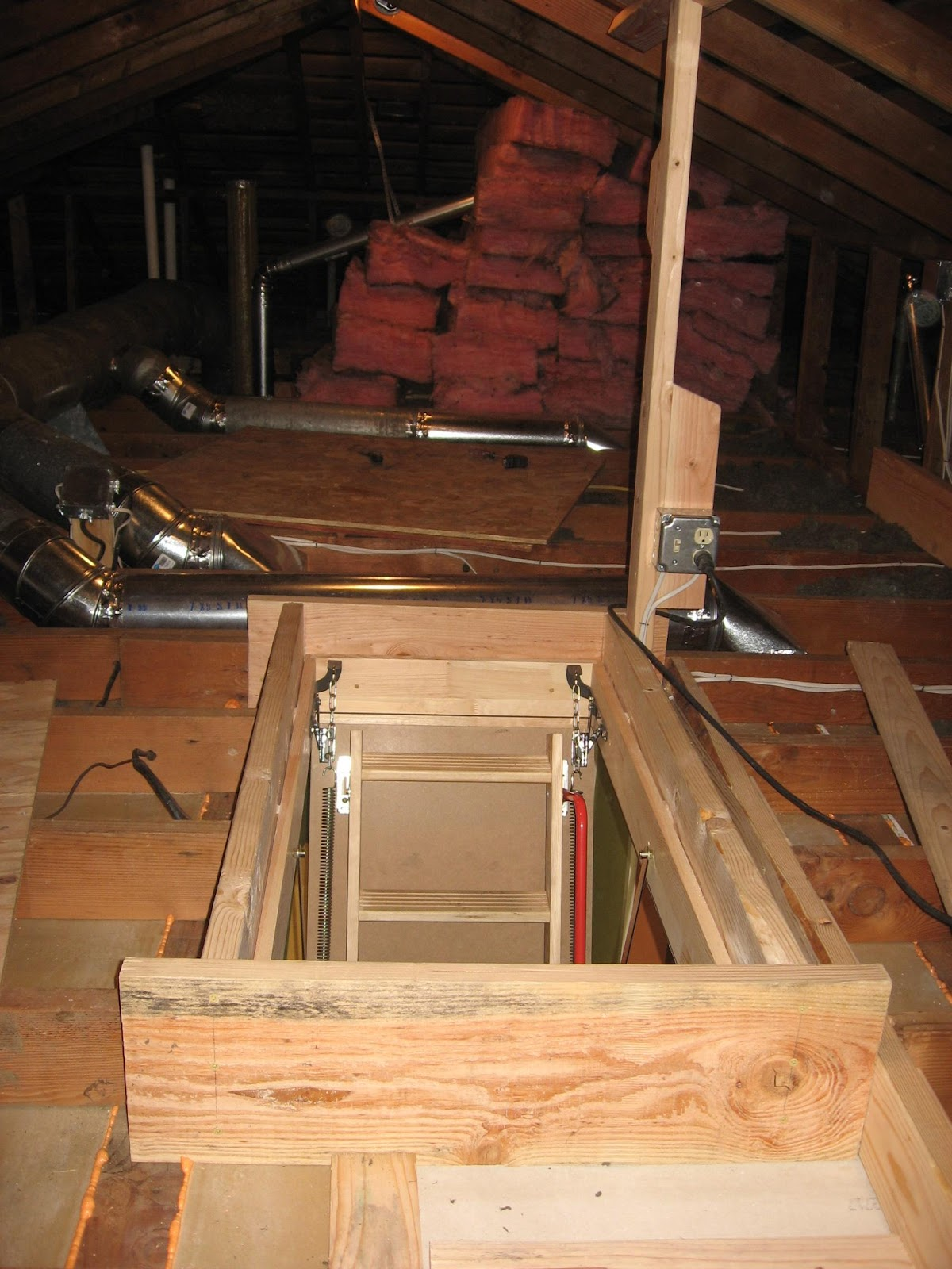how to build an attic ladder