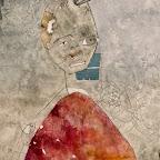 L'UOMO CHE CHIEDEVA L'Africatecnica mista su carta (gesso acrilico, colori acrilici)24 cm x 38 cm