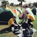 Bayonne Mars 2001 camping sur le Campus Universitaire